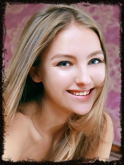 Green-eyed beauty with long blonde hair, cute face, and bedroom eyes, Izabel is such a sweetheart.